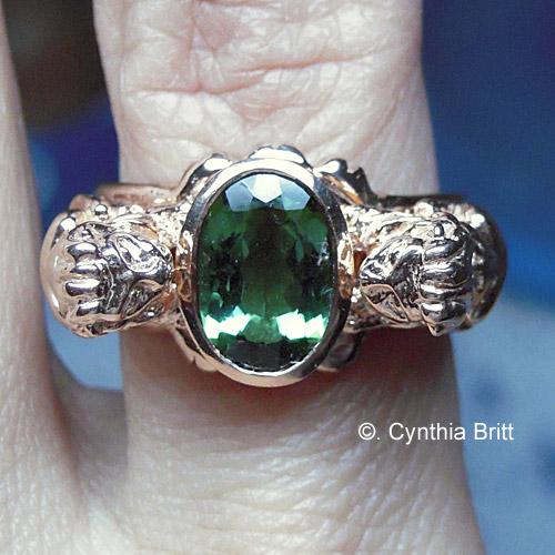 Lion Gold Ring Custom Made Cynthia Britt