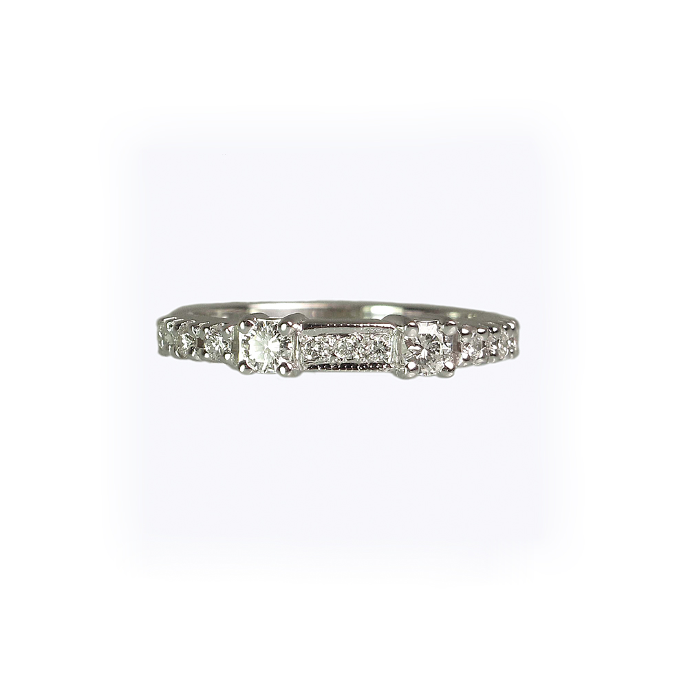 Danielle Diamond Wedding Ring by Cynthia Britt