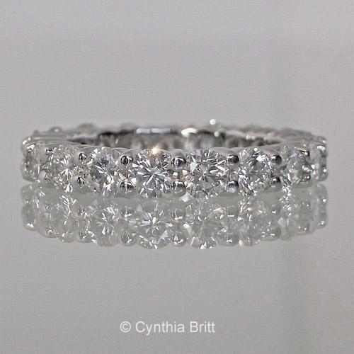 Cynthia Britt Custom Made Diamond Eternity Band
