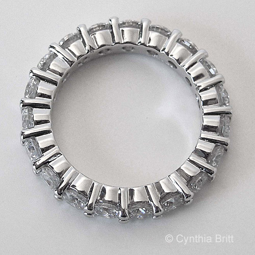 Cynthia Britt Custom Made Diamond Eternity Band Side View