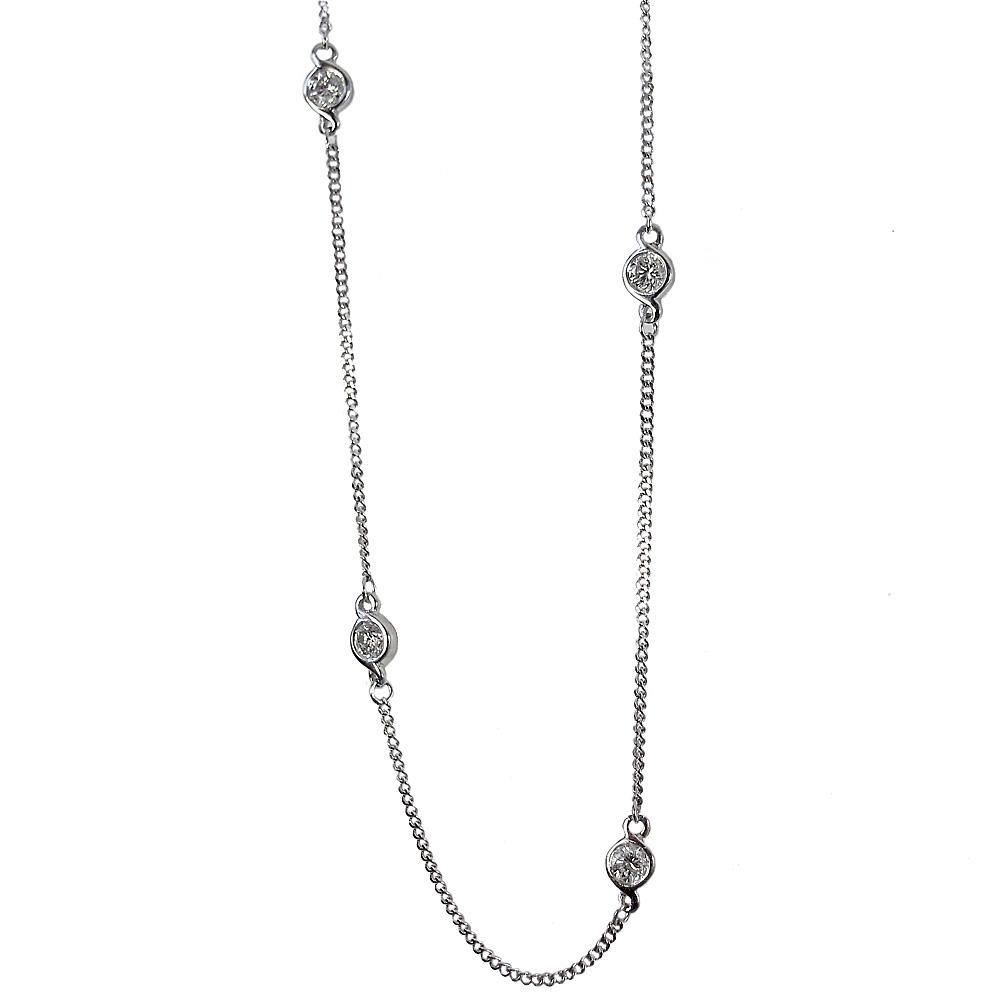 9 Love Knots Diamond Necklace Custom Made
