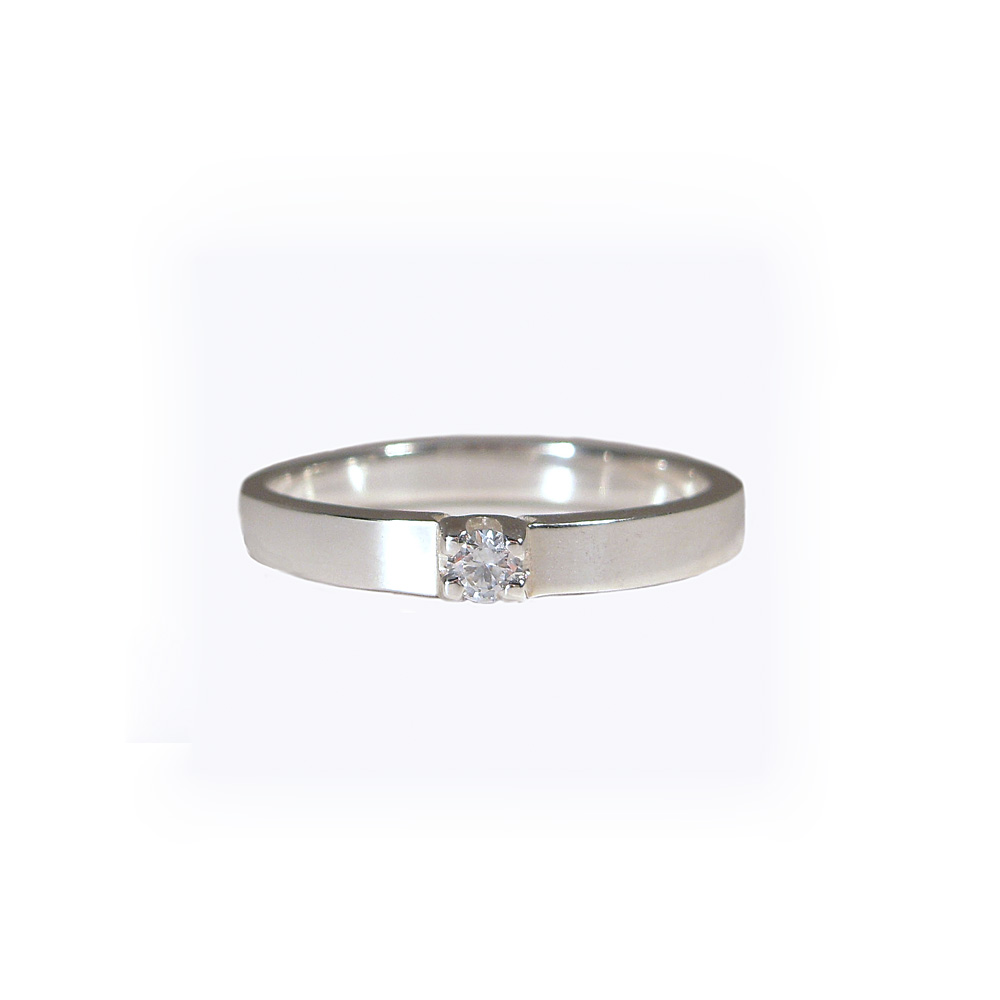 Emily Contemporary Custom Made Matching Wedding Ring