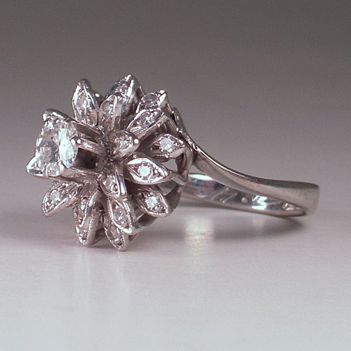 Heirloom Engagement Ring Side View