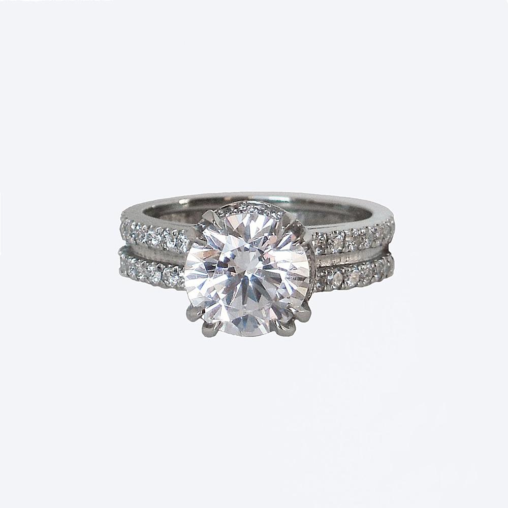 Tracey Engagement Ring Custom Made by Cynthia Britt