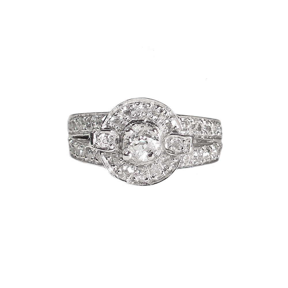 Jessica Engagement Ring Custom Made in Platinum