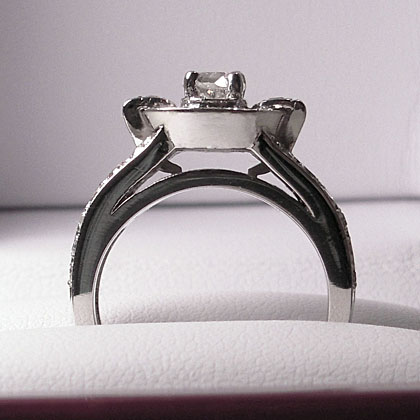 Jessica Platinum Engagement Ring by Cynthia Britt