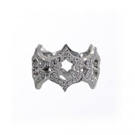 Kisses White Gold Diamond Ring