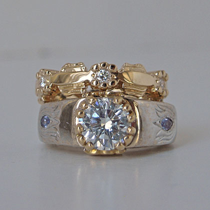 Custom Wedding Band to Match and Fit Engagement Ring