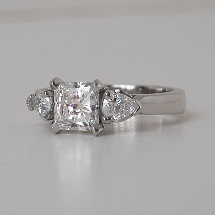 Custom Made Platinum And Diamond Engagement Ring For Joia