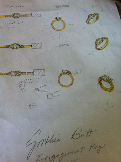 Nature Inspired Custom Engagement Ring