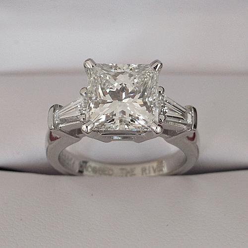 Custom Designing a Princess Cut Diamond Engagement Ring