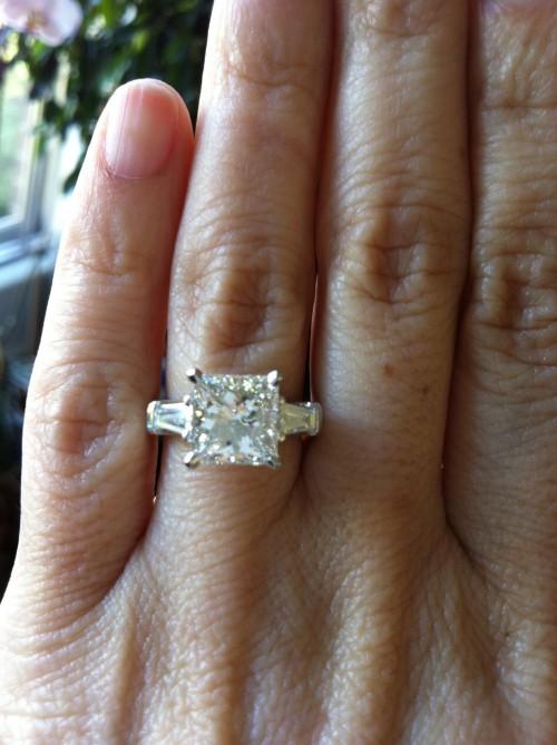 Custom Making a Princess Cut Diamond Engagement Ring