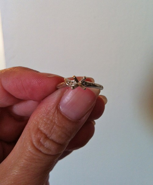 Heirloom Diamond into an Engagement Ring