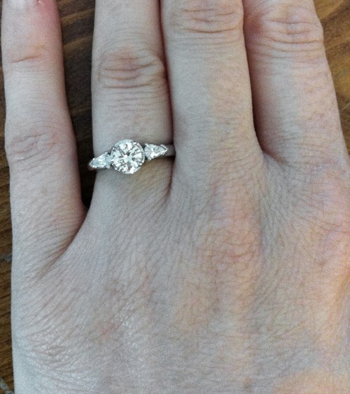 Transformation of an Heirloom Diamond into an Engagement Ring