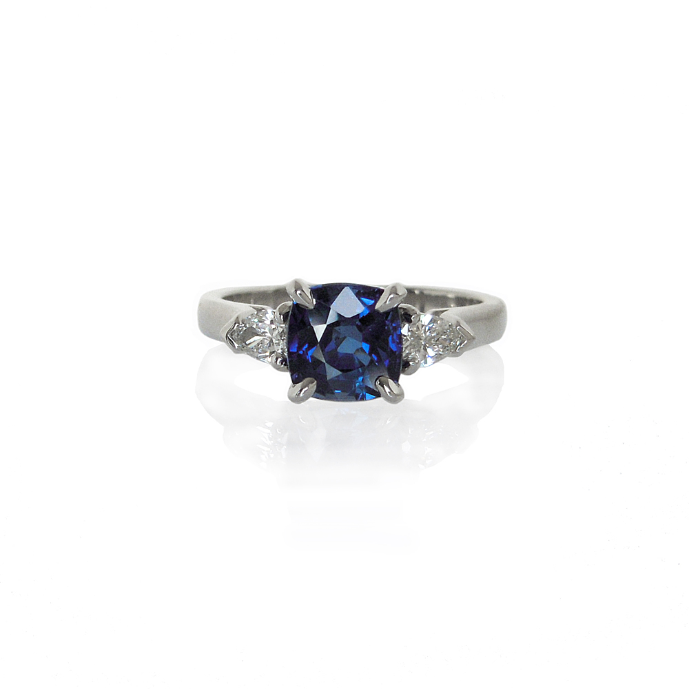 Making of a Sapphire and Diamond Surprise  Engagement Ring