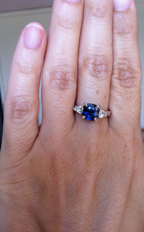 Making of a Sapphire and Diamond Surprise  Engagement Ring for Audra