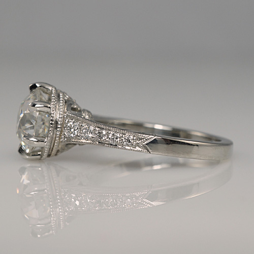 Custom Making an Engagement Ring with a Vintage Look for Emily