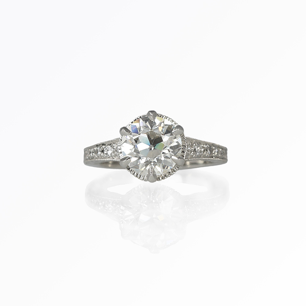 Custom Making an Engagement Ring with a Vintage Look