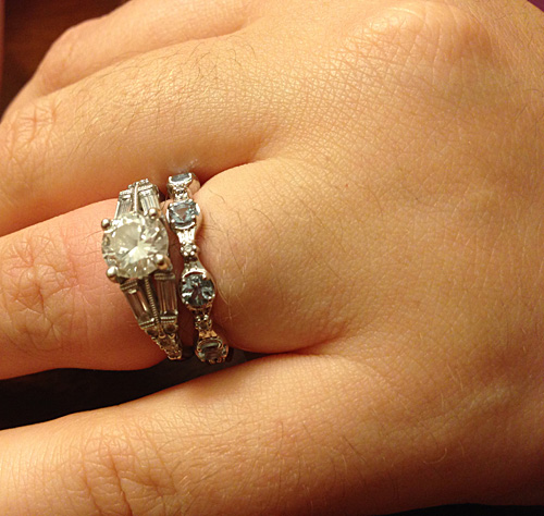 Wedding Ring and Engagement Ring Inspired by Princess Rapunzel