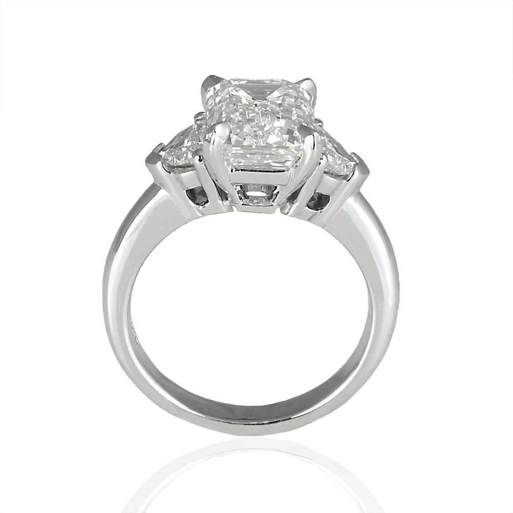 custom made emerald cut diamond engagement ring | Cynthia Britt