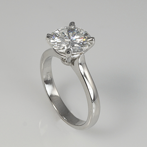 Kim Solitaire Engagement Ring Side View