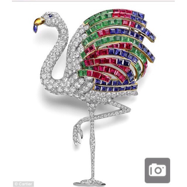 A flamingo brooch made for Duchess of Windsor