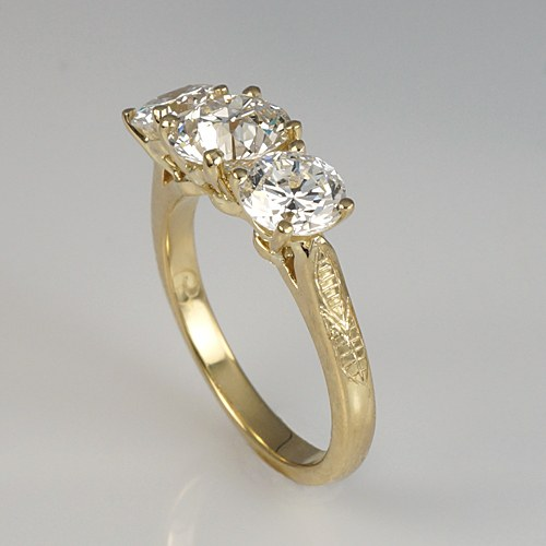 Heirloom Rings Re-Designed Into An Engagement Ring