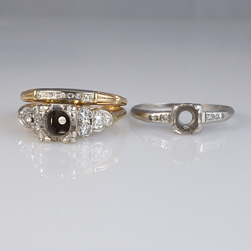 Two Heirloom Rings Re-Designed Into an Engagement Ring