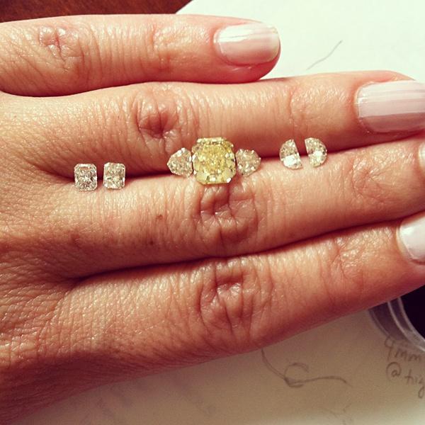 Linda Engagement Ring Side Diamond Options