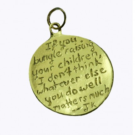 Personalilized Message Charms in Gold 1
