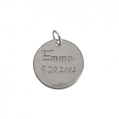 """Personalized Message Charms in Silver Size 5/8"""""""
