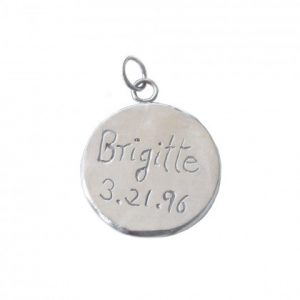 Personalized Message Charms in Silver Size 3