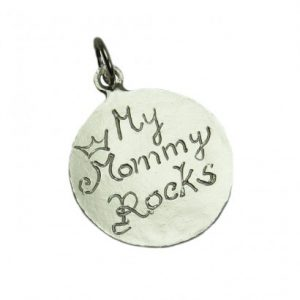 Personalized Message Charms in Silver Size 4