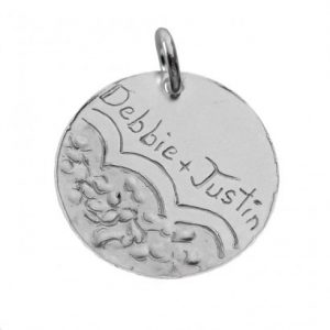 Personalized Message Charms in Silver Size 5