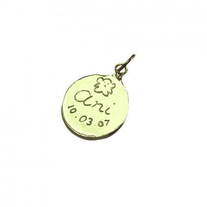 Personalized Message Charms in Gold size 1