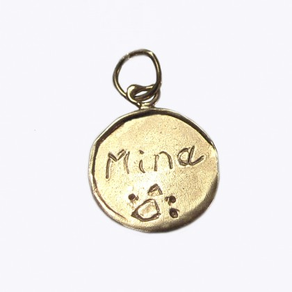 Personalized Message Charms in Gold size 2