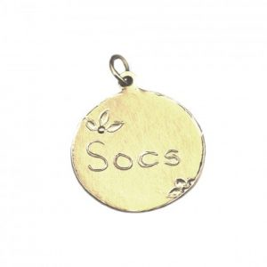 Personalized Message Charms in Gold size 3