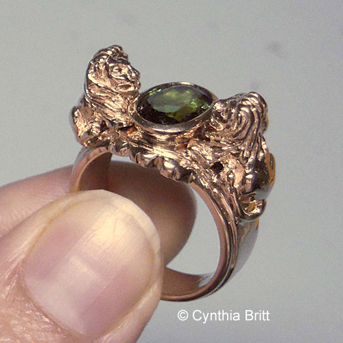 Custom lion ring cynthia britt