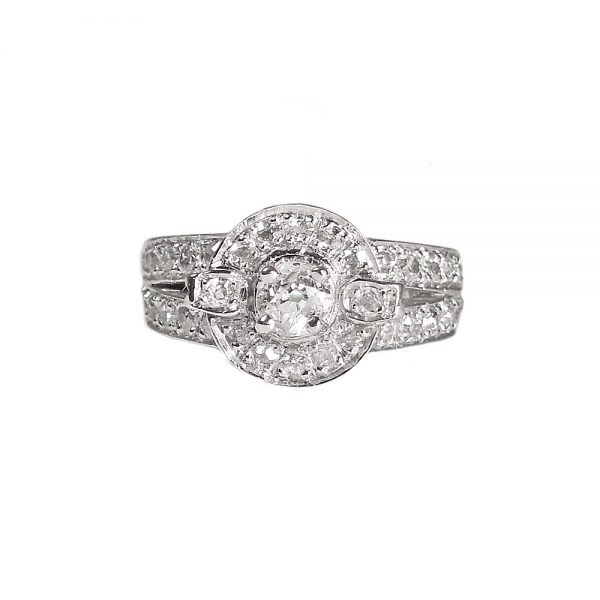 Jessica Engagement Ring Custom Made in Platinum