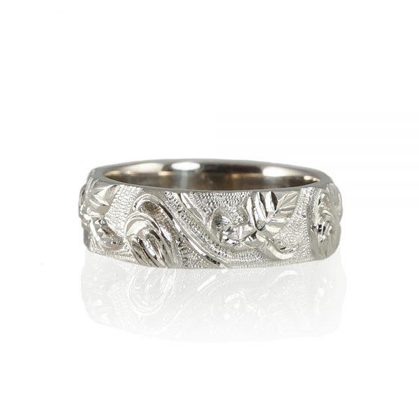 Scott Men's Vine Wedding Ring