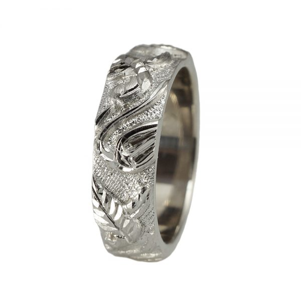 Scott Men's Vine Wedding Ring
