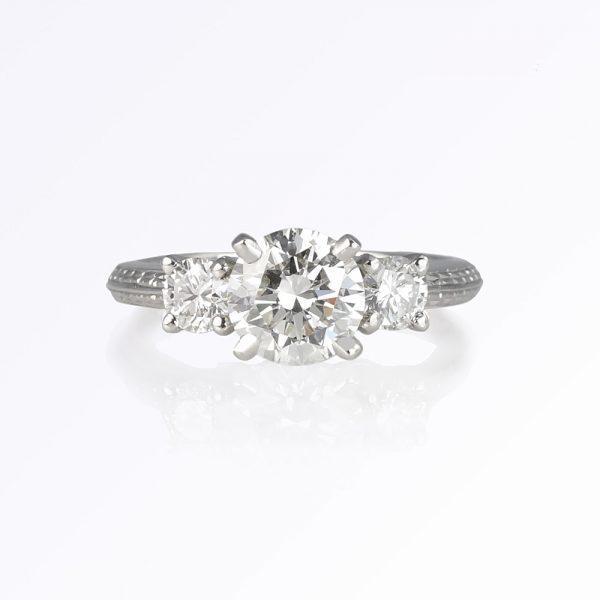 Lori Engagement Ring Custom Made by Cynthia Britt