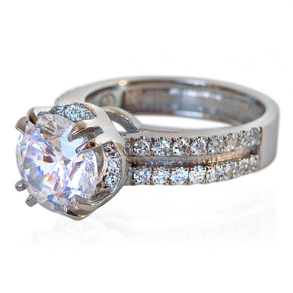 Tracey Custom Made Engagement Ring side