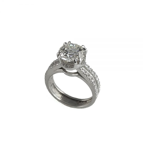 Tracey Engagement Ring by Cynthia Brit Side View