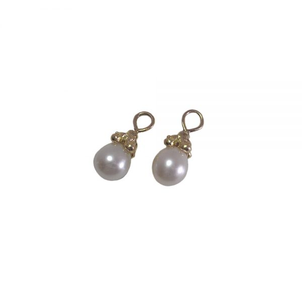 18K Yellow Gold Britt Pearl Dangles