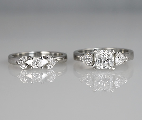 Custom Made Matching Wedding Ring And Engagement Ring