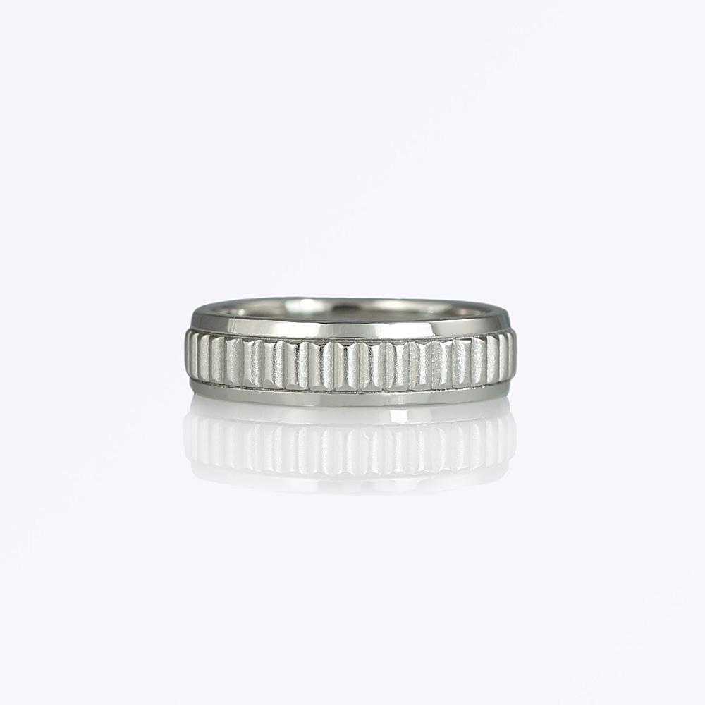 George wedding ring by Cynthia Britt is a custom made platinum men's wedding ring