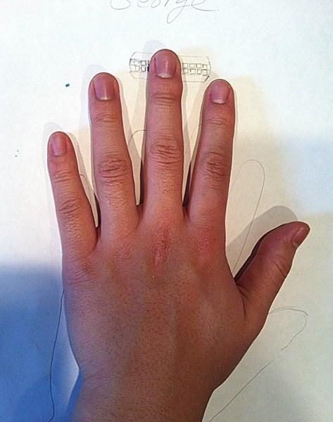 George's Hand Custom Men's Wedding Ring