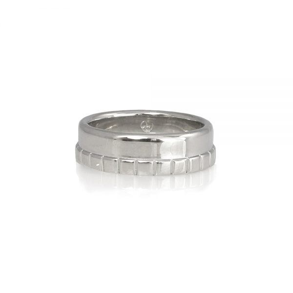 Adarsh Men's Platinum Wedding Band Custom Made