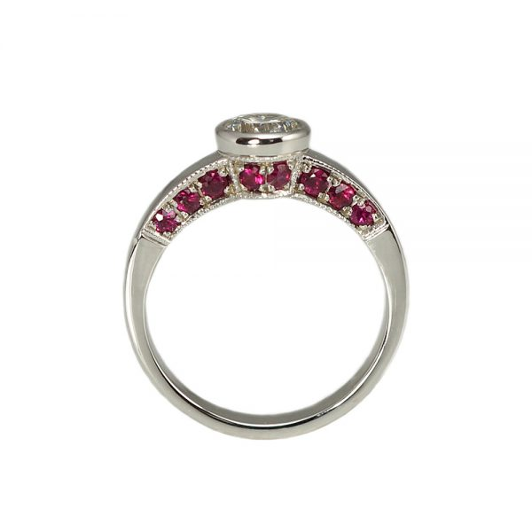 Barbara Diamond Ring Ruby side